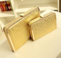 2013 women's handbag Gold color pull style neon chain of packet dinner  messenger bag