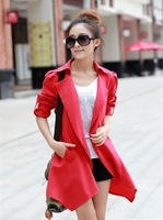 2013 autumn women's plus size women's trench outerwear medium-long women's trench 0277