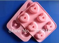 1pcs 6 Holes Small Love Green Good Quality 100% Food Grade Silicone Cake/Pudding/Chocolate Baking Pan DIY mold