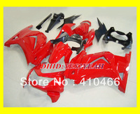 Top-selling Fairing kit for KAWASAKI Ninja 250R ZX250R ZX250 08 09 10 11 12 EX250 2008 2012 hot red Fairings bodykit  KH29