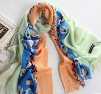 2013 Fashion Winter Warm Scarf/Pashmina 100% Australian Wool Striped with Dot Shawl For  Woman Wholesale Free Shipping