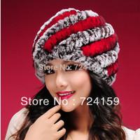 free shipping best quality Rex rabbit fur hat 2013 rex rabbit pineapple hat women's warm hat caps