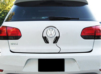 Free shipping car decoration LOGO Reflective character headphones stickers for Volkswagen POLO and so on