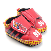 Red sports car PU outsole baby shoes toddler shoes soft baby shoes free shipping