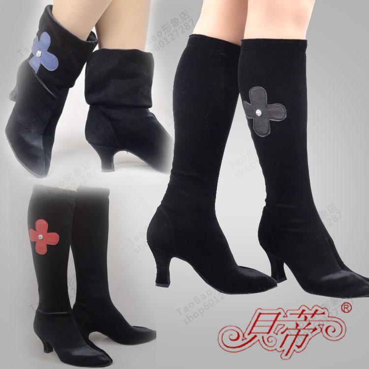 Betty dance shoes t17 boots velvet dance boots modern dance shoes Latin dance shoes boots(China (Mainland))