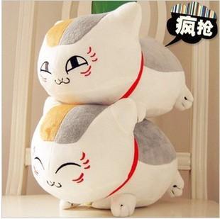 Gato boneca de brinquedo de pelúcia boneca de pano dos desenhos animados grande mão mais quente travesseiro de pescoço almofada travesseiro(China (Mainland))