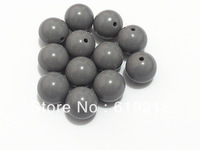 Newest ! 20MM 100pcs/lot Grey Acrylic Solid Beads,Chunky Necklace Beads,Acrylic Solid Beads