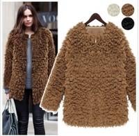 2013 new Autumn winter women fashion Faux Fur wool elegant velvet medium long outerwear ladies overcoat woman coat woolen cloth