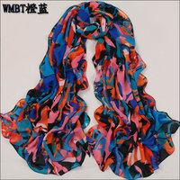 hot women winter scarf fashion style silk scarf polka velvet scarf chiffon Bohemia Scarf free shipping (SC068)
