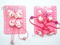 Mix Color 96Pcs Hello Kitty  Hairbands + Hair Clips baby Barrette Kids headbands Lots Free Shipping