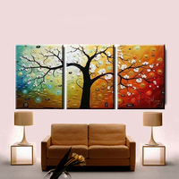 Trippings pure hand painting oil painting decorative painting picture frame modern mural lucky tree pachira
