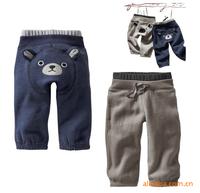 LS271 New baby boy kids pants/ cartoon cute warm children pants/gray navy blue free shipping/Wholesale and Retail/Little Sun