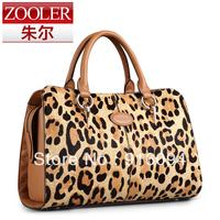 New fashion retro genuine leather women's handbag horsehair leopard bag shoulder bag quality women's handbag bag free shipping