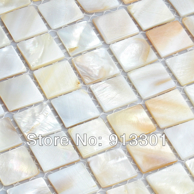 Ship FREE over 11 sq ft shell tile pearl mosaic tile deco mesh mother of pearl tiles wholesale kitchen backsplash tile design(China (Mainland))
