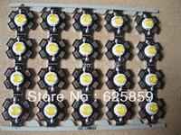 50PCS 3W White High Power LED Light Emitter 6000-6500K with 20mm Star Heatsink