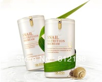 Hot !! New arrival RETAIL ONE PIECE Snail Nutrition BB Cream SPF45 PA+++40ml,  free shipping