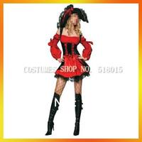 2013 hot spandex red fancy pirate costumes AEWC-0874