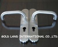 Free shipping 2pcs/pair 304 stainless steel door handle wood door handle
