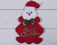 2013 New  Arrival Christmas Bowknot Sharp Snowman Pendant Red  WD12112805