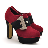 free shipping 2013 autumn shallow mouth rhinestone metal hasp single shoes elevator water women's high-heeled shoes 3792