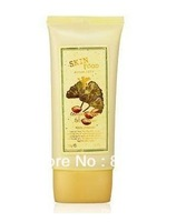 Free Shipping  one piece retail SF ginkgo green tea triple efficacy BB Cream 50g #1 ivory and  #2 natural for choice