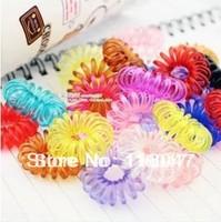 Colourful Fashion Fashion hair accessory  Elastic hair band  telephone line hair ring Free shipping