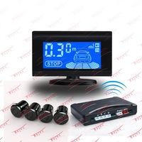 4 Parking Sensors LCD Car Backup Reverse Radar Kit drop shipping RS-106