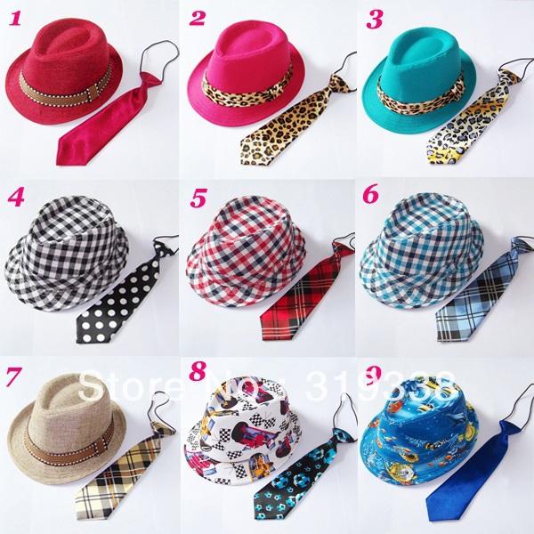 шапка для мальчиков qiaran fedora 10pcs lot fedoras Шапка для мальчиков hat fedora 12set BH233