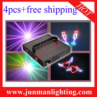 4pcs 3W RGB Animation Laser Light With 25Kpss Scanner DJ Stage Lighting Cartoon Light High Power Laser Light Free Shipping