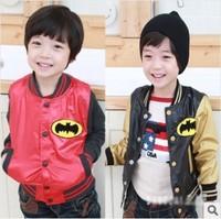 Free shipping 5pcs/lot Baby Boy Autumn coat Cool Batman print jackets Kids casual outerwear Boys new design outfits
