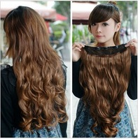 Thickening big wave curly hair slice of hair extension clip one piece scrollp scroll hair piece hair extension piece