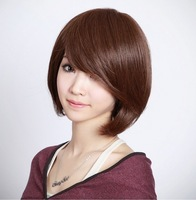 Short BOB wig Bobo wig bangs oblique short hair bag scroll  free shipping