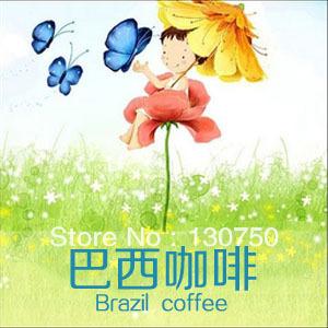 Free Shipping New 2013 454g High quality Original Brazilian Coffee Beans Baking charcoal Fresh roasted coffee