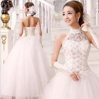2013 New Fashion Lace Wedding High-quality Princess Backless Wedding Dresses Sweet Bride Wedding Dress