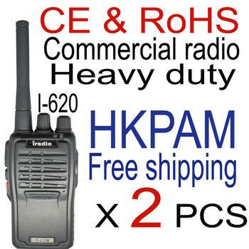 iradio 620 shipping free best uhf handheld walkie talkie with free earpieces for kenwood radio station tk-3107, 5w long range