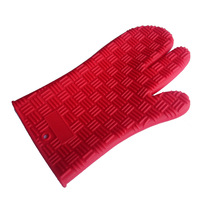 Silicone Gel Oven Mit with Three Fingers Style High Heat Resistance Food Safe Silicone Kitchen Glove Kitchen Glove