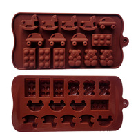 New arrival silica gel cake mould baking tools ice cub tray  chocolate making molds cake baking tray 15 holes bakeware moulds