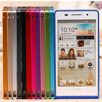 Free Shipping New Colorful Luxury Aluminum Alloy Metal 0.7mm Ultrathin Frame Bumper Case  for Huawei Ascend P6 Perfect Fit