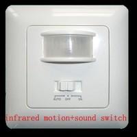 New Security infrared Motion Sensor & Sound Switch Pir Detector(90V/AC-240V/AC)