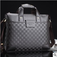 Opening Exclusive 2013 New Man Business Handbag Leather Black Brown Men Shoulder Bag/Totes/Computer Bag Briefcase High Quality