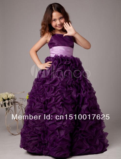 Organza flower girl dresses girls pageant dress wedding party dress