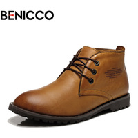Benicco trend martin boots fashion leather boots shoes male boots tooling high-top shoes men