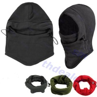 6in1 Thermal Fleece Balaclava Hood Police Swat Ski Bike Face and Neck Wind Stopper Mask  4 Colors