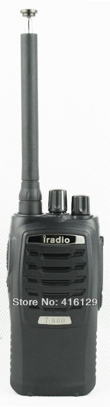iradio 800 walkie talkie commercial hotel uhf handheld transceiver radio station with free headset for baofeng quansheng(China (Mainland))