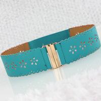 Fashion super  hollow elastic girdle Lady PU Belt for  Wholesale