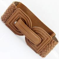 double D buckle buckle  woven elastic wide belt girdle Women's belt