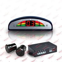 New 2013 car 4 Sensors System 12v LED Display Indicator Parking Car Reverse Radar Kit Black RS-610E