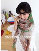 Free shipping 2013 new style Paris yarn scarves wild fashion cashew 180*90CM