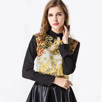Free Shipping 2013 New hot Totem print design pure cotton sweaters for wemen,quality fashion female sweater shirt W4245