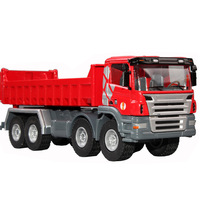 Huayi the whole alloy dump truck big truck dump truck engineering car toy car